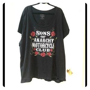 Euc Torrid 6x Sons of Anarchy motorcycle club tee